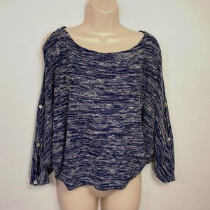 Anthropologie Postmark Blue Malu Space Dye Sweater
